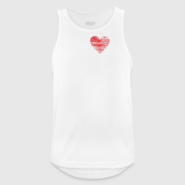 I love minimal techno dubstep rave - Men's Breathable Tank Top