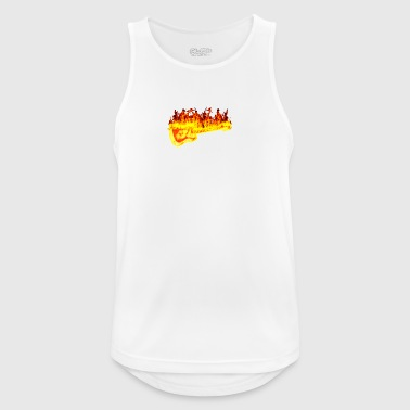 Fire guitar - Men's Breathable Tank Top