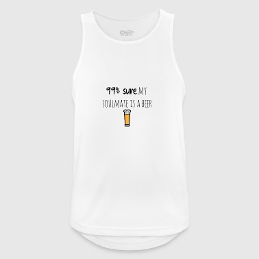 My soulmate is a beer - Men's Breathable Tank Top