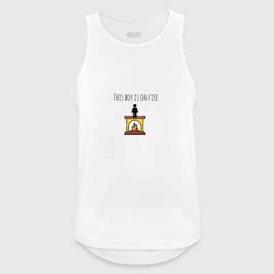 This boy is on fire - Men's Breathable Tank Top