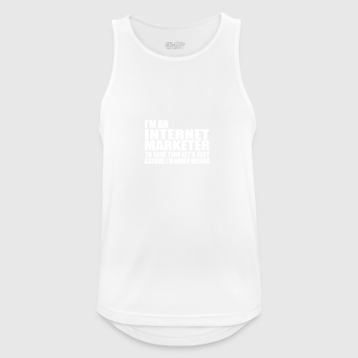 internet marketer - Men's Breathable Tank Top