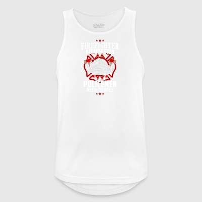 firefighter - Even Police need heroes - Men's Breathable Tank Top