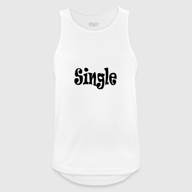 single Black - Tank top męski oddychający