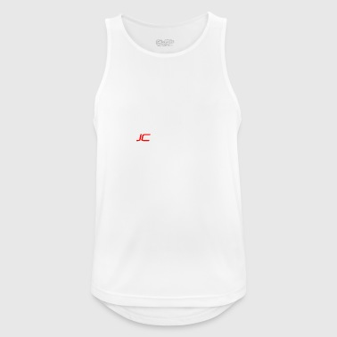JC Racing Logo Text Only Large - Men's Breathable Tank Top
