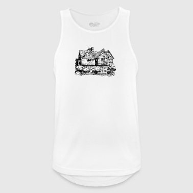 Haus Illustration - Männer Tank Top atmungsaktiv