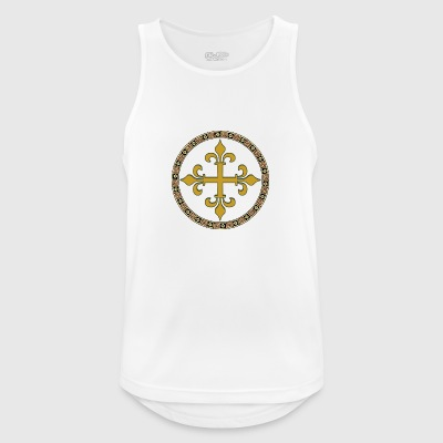 Celtic gull kors - Pustende singlet for menn