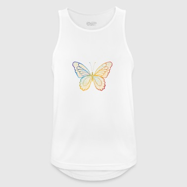 Butterfly in regenbogefarben hand drawn, - Men's Breathable Tank Top