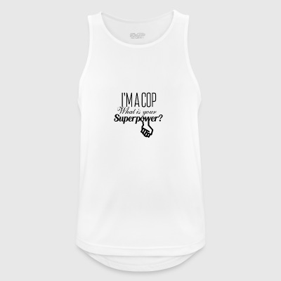 I am a cop what is your superpower - Männer Tank Top atmungsaktiv