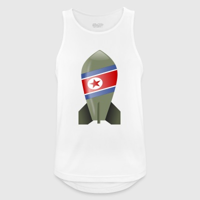 North Korea bomb - Men's Breathable Tank Top