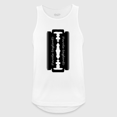 sharp words - Men's Breathable Tank Top