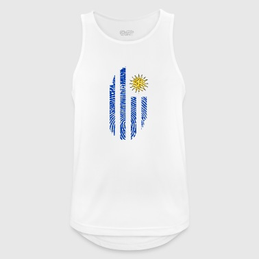 URUGUAY FINGERABPRESSION. SOUTH AMERICA SPANISH - Men's Breathable Tank Top