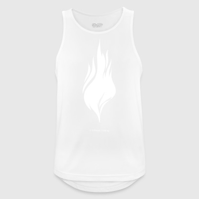 White Flame - Men's Breathable Tank Top