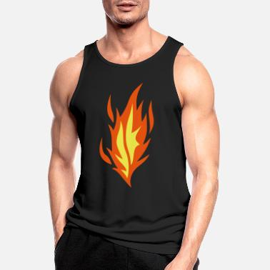 Flame flame flame fire - Men's Sport Tank Top