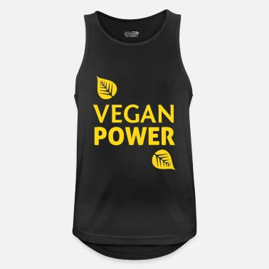 Vegan Vegan Power - Männer Tank Top atmungsaktiv