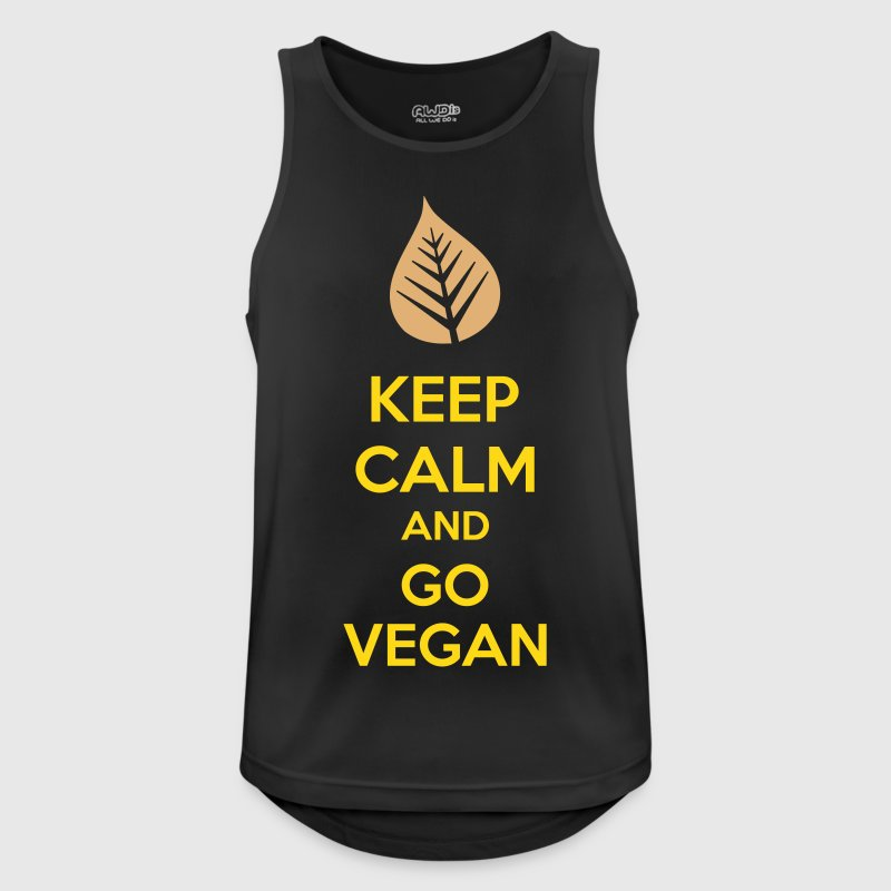 Keep Calm And Go Vegan - Camiseta sin mangas hombre transpirable
