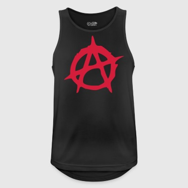 Anarchy symbol sign illustration - Men's Breathable Tank Top