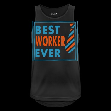 BEST WORKER EVER! - Tank top męski oddychający