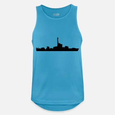 Navy Seals Vector Navy warship Silhouette - Débardeur respirant Homme