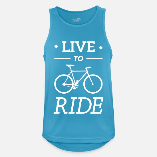 Bestsellers Q4 2018 Tank Tops - live to ride fixie cycling bicycle sport saying - Men's Sport Tank Top sapphire blue