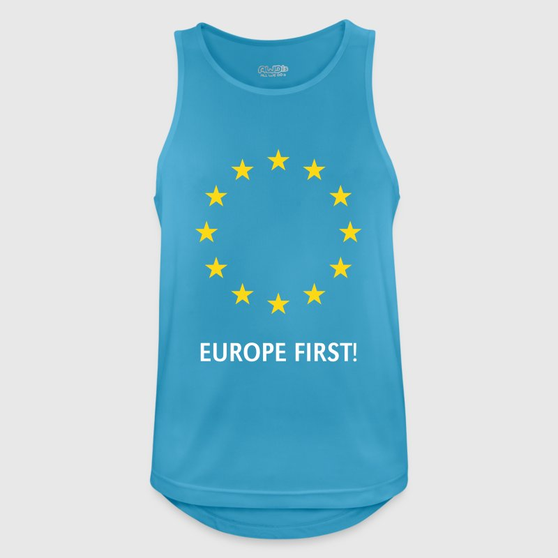 Europe First! - Männer Tank Top atmungsaktiv