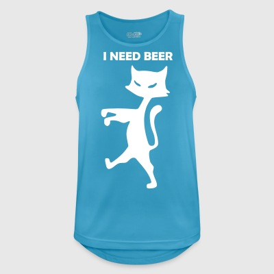 cat-i-need-beer - Men's Breathable Tank Top