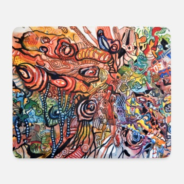 Uv Abstract motif colorful and individual - Mouse Pad