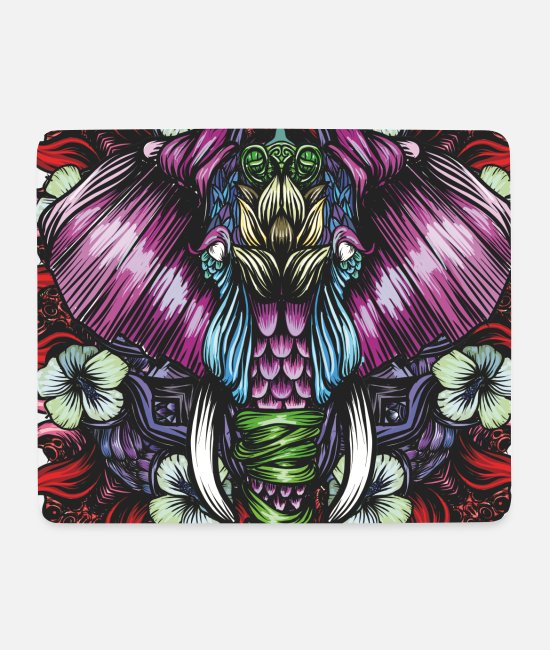 Mythical Collection V2 Mouse Pads - Elephant Red - Mouse Pad white