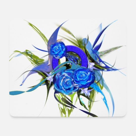 Digital Mouse Pads - Blue flower - Blue flower of Mia Niemi - Mouse Pad white
