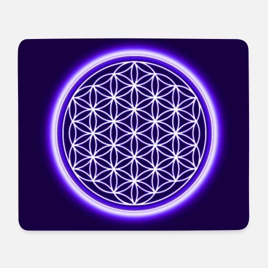 Birthday Mouse Pads - Flower of life spiritual gift idea protection symbol - Mouse Pad white