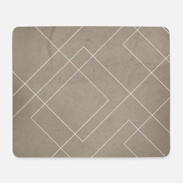 Abstract Overlapping Diamond Lines on Taupe - Mouse Pad