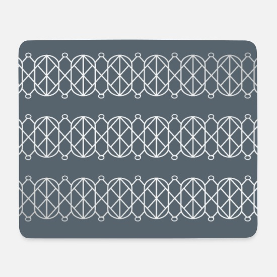 Trend Mouse Pads - Modern Geometric Pattern with Circles and Lines - Mouse Pad white