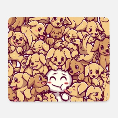 Life Goals - Golden Labrador Retriever dogs - Mouse Pad