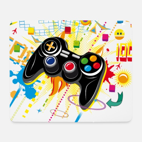 Gaming Mouse Pads - Gamepad Video Games - Mouse Pad white