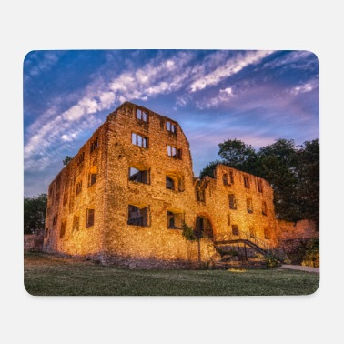 Landskrone castle ruins at blue hour - Mouse Pad