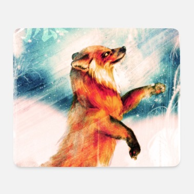 Kitsune, Fuchs im Winter - Mousepad