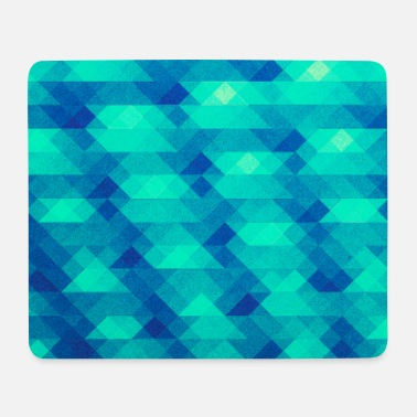 Vatertag Triangle pattern geometry - (HDR green) design - Mousepad