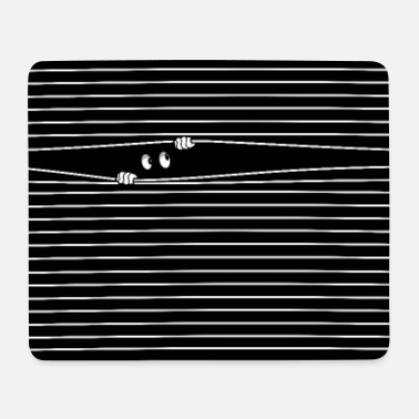 HAPPY, PEEPING FUNNY CUTE EYES. - Mouse Pad