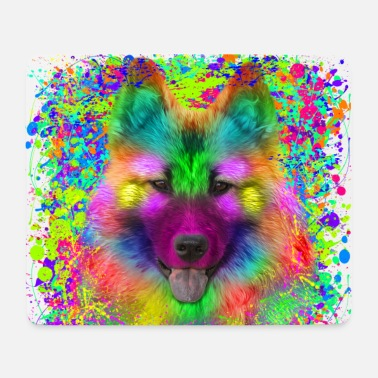 Eurasier im Graffiti-Look - Mousepad