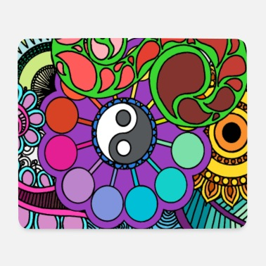 Coloured Nature Mandala - Mouse Pad (horizontal)