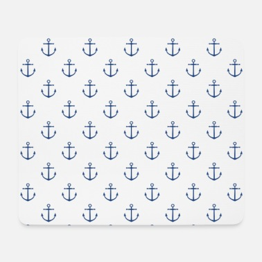 Maritime Maritime anchor pattern mask - Mouse Pad