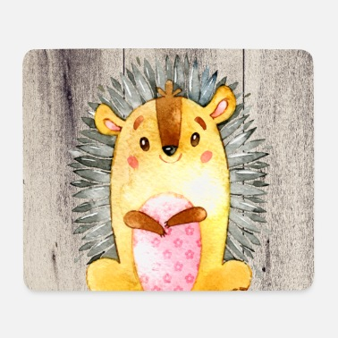 Friends Animal friends in the forest - The little hedgehog - Mouse Pad