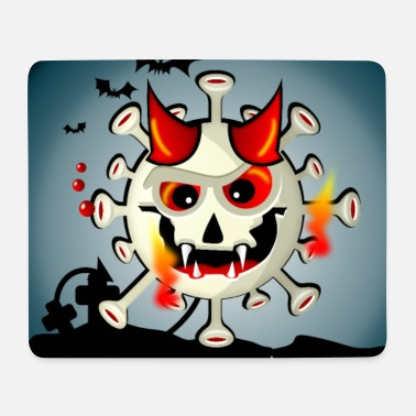 Halloween der Simonsitos Friedhof Teufel Terror - Mousepad
