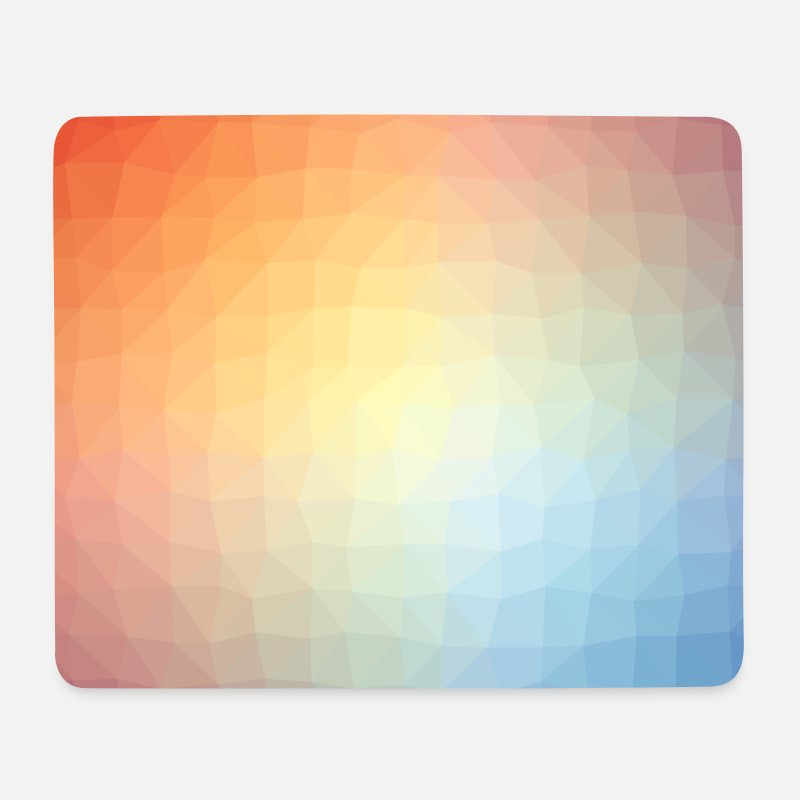 Bestseller Mousepads  - Low Poly Muster - Mousepad Weiß