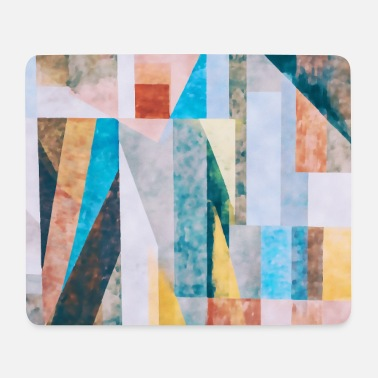 Abstract geometry watercolor - Mouse Pad