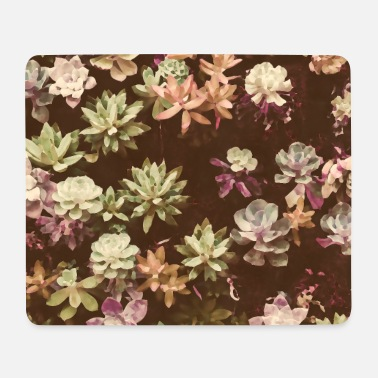 Botanical Botanical Garden Watercolor Beige - Mouse Pad