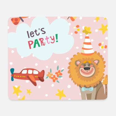 Birthday Lover - animal lovers celebrating pink - Mouse Pad