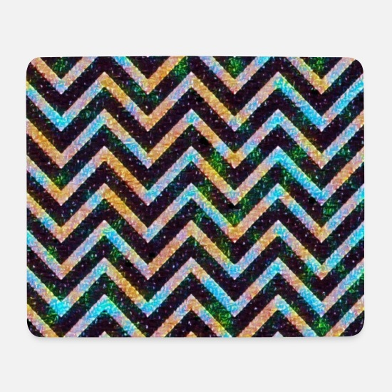 Gift Idea Mouse Pads - Decorative zigzag - Mouse Pad white