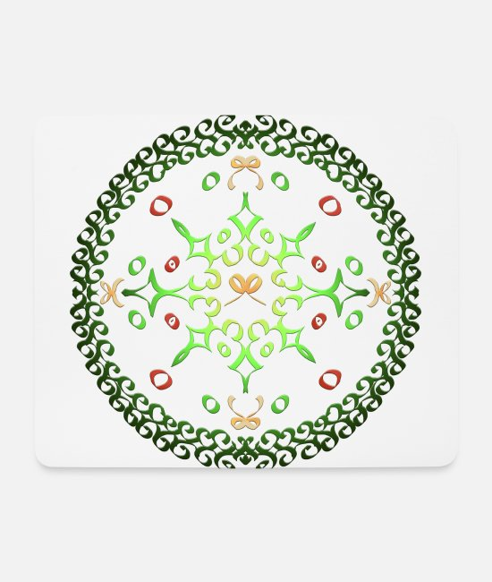 Circular Mouse Pads - Advent wreath - Mouse Pad white
