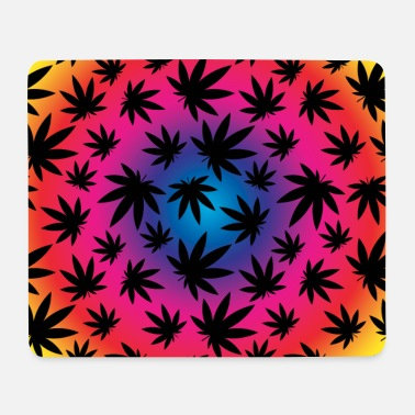 Colorful Weed - Mouse Pad
