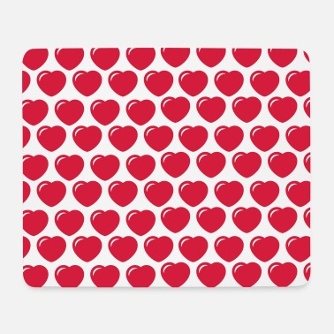 Round hearts pattern - Mouse Pad